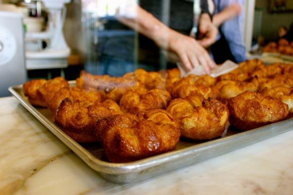 b. Patisserie's freshly baked kouign amman