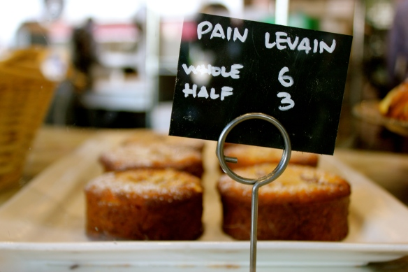 Chef Belinda's favorite is the pain levain!
