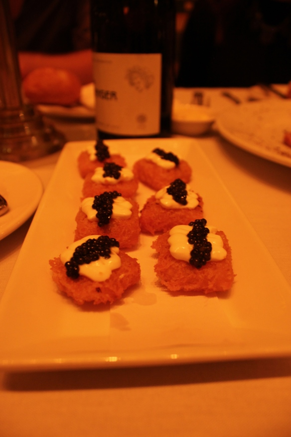Potato Pillows with Crème Fraîche and American Caviar, $15
