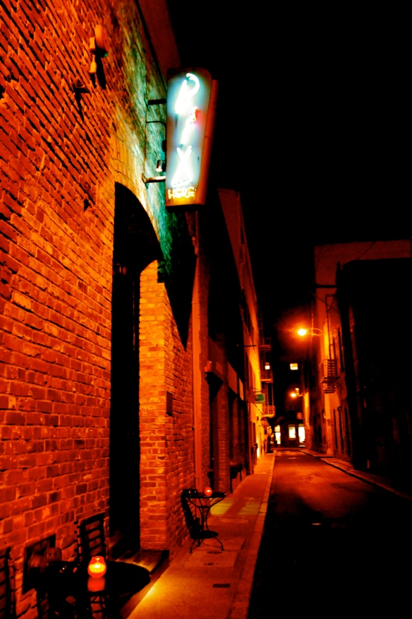 Bix Restaurant alley entrance